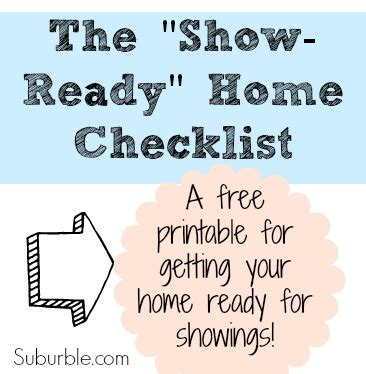 selling your house the showing check list suburble