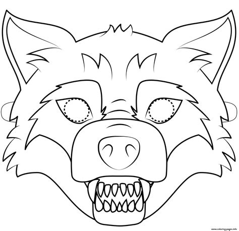 big bad wolf template big bad wolf mask outline coloring pages printable