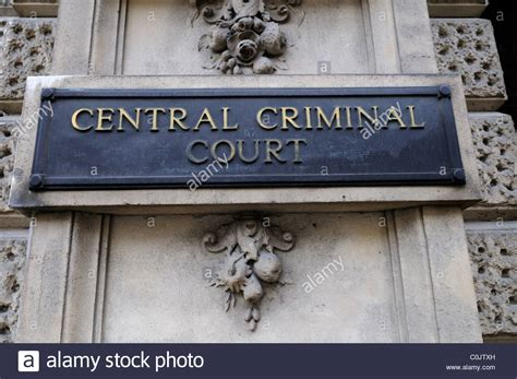 Justice Court Criminal Search Central Criminal Court Sign Bailey Uk Stock Photo Royalty Free