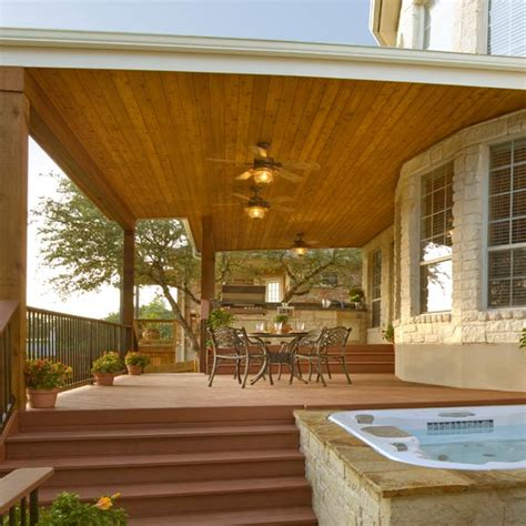Custom Designed Covered Porch Archadeck Outdoor Living Open Patio Designs