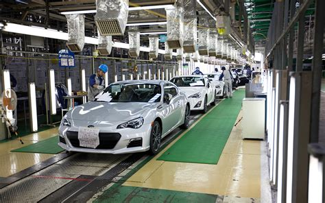 subaru factory japan completed subaru brzs in factory photo 40