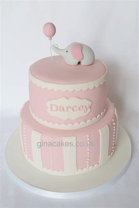 Girlset Pink Elephant pink elephant christening cake molyneux