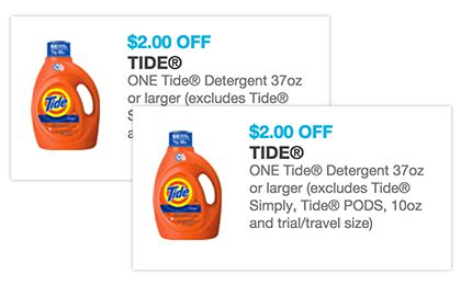 Tide Printable Coupons 2 00 Off | new 2 off tide printable coupon only 1 67 at riteaid