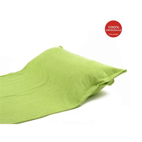 spugna per cuscini camilla telo mare con cuscino verde spugna shop