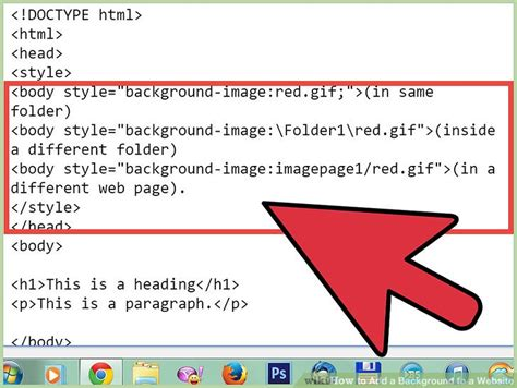 how to add a background image in html how to add a background to a website 14 steps with pictures