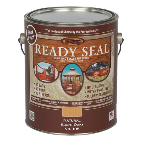 ready seal  gal light oak exterior wood stain  sealer