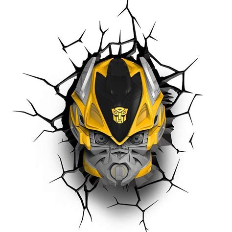 lights transformer transformers 3d wall lights optimus prime bumblebee
