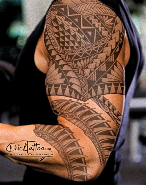 badass arm tattoos badass polynesian custom design by chicktattoo get