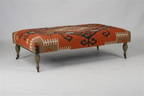 kilim footstool ottoman zentique kilim ottoman red traditional footstools and