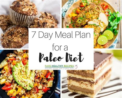 Paleo Based Detox Diet by 7 Day Meal Plan For A Paleo Diet Favehealthyrecipes
