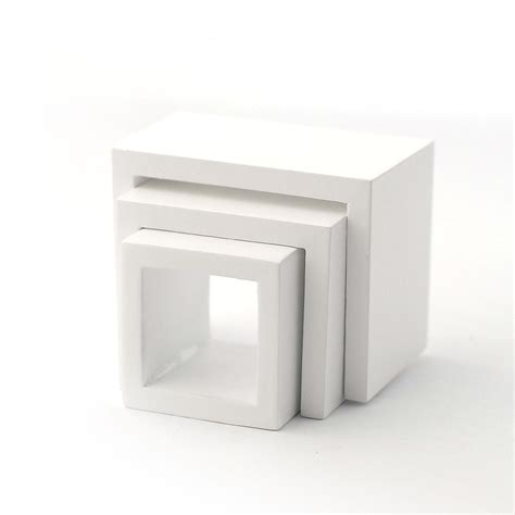 white nest of tables e3736 modern white nest of tables dolls house