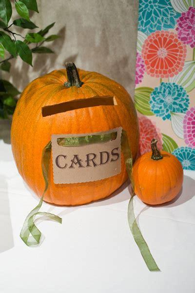 Pumpkin Card Holder Wedding nature inspired ideas for fall weddings bridalguide