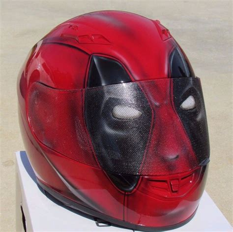 airbrushed motocross helmets dead pool custom airbrushed painted motorcycle helmet ebay