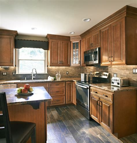 wolf kitchen cabinets wolf classic cabinets in hudson heritage brown with