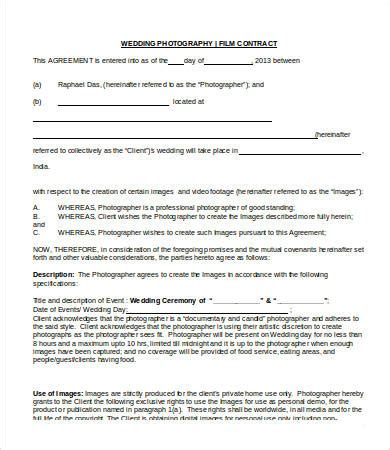 8+ photography contract templates free sample, example