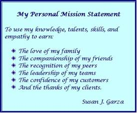 personal mission statement quotes like success