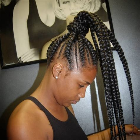ghana cornrow in ponytail cornrow braided ponytail hairstyles solution