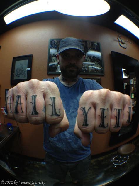 hahaha tattoo r 176 m 176 t connor garritty all hail the yeti 02