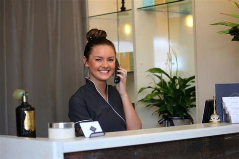 kristy wood friendly receptionist picture of temple