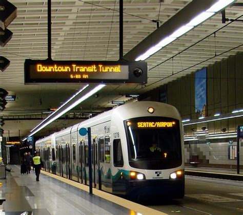 seattle airport fast light rail convenient and