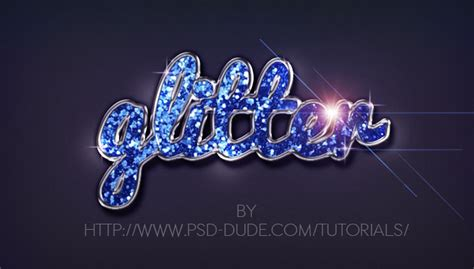 adobe photoshop graphics tutorial glitter sparkle text effect in photoshop photoshop