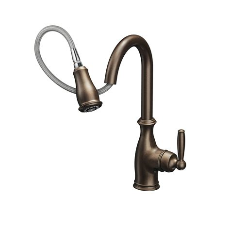 moen kitchen faucets moen 7185c brantford chrome pullout spray kitchen faucets