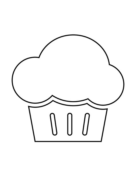 printable cupcake stencils cupcake stencil 7 h m coloring pages