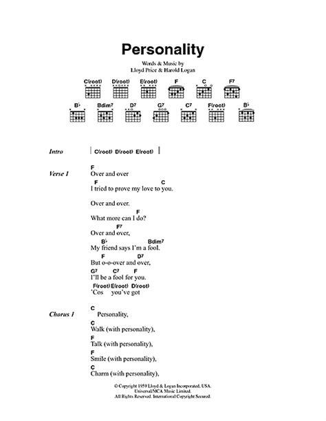 lyrics lloyd you ve got personality sheet by lloyd price