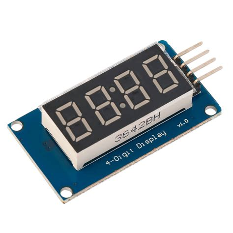 4 Bits Tm1637 Digital Led Display Module With Clock Arduino 4 bits digital led display module with clock display tm1637 for arduino d ebay