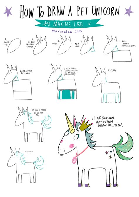 doodle how to make unicorn how to draw a pet unicorn maxine