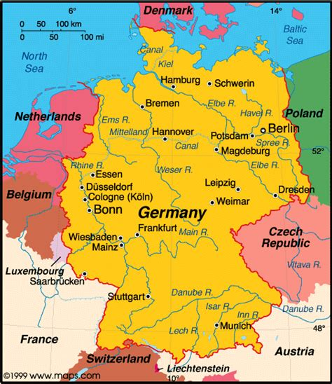 germany country map map of germany country region map of germany