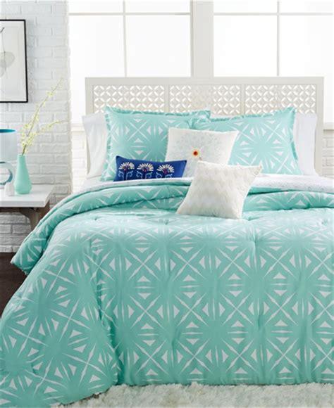 Aqua Comforter by Echo Lattice Geo Aqua Comforter Mini Sets