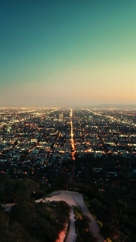 los angeles california city night iphone wallpaper