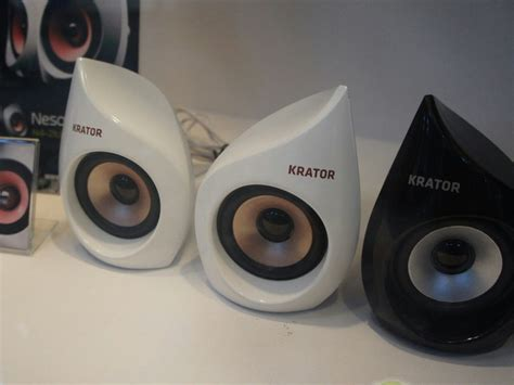 Krator N4 20u05 2 0 5w ヲチモノ ユニークでスタイリッシュなpcスピーカー krator n4 20u05