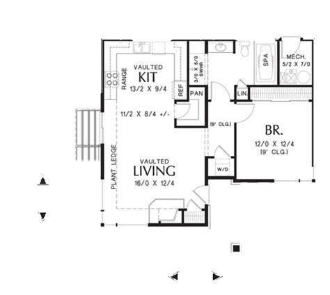 vacation rental house plans single bedroom compact contemporary home ideal for beach
