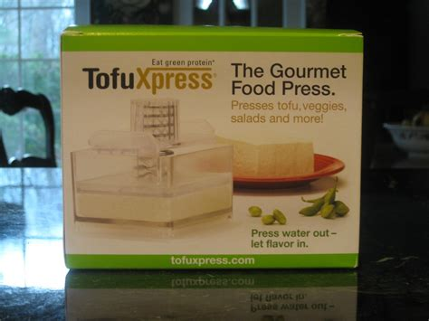 tofuxpress gourmet food press and recipe for easy maple