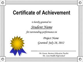 Business Certificate Templates by Certificate Of Achievement Template Best Business Template