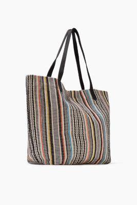 Esprit Shopper Pocket New esprit shopper with stripes cotton leather at our