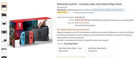amazon nintendo switch a principios de mayo se podr 225 comprar la nintendo switch