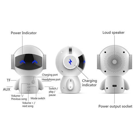 2 in 1 speaker bluetooth portable power bank model robot black jakartanotebook