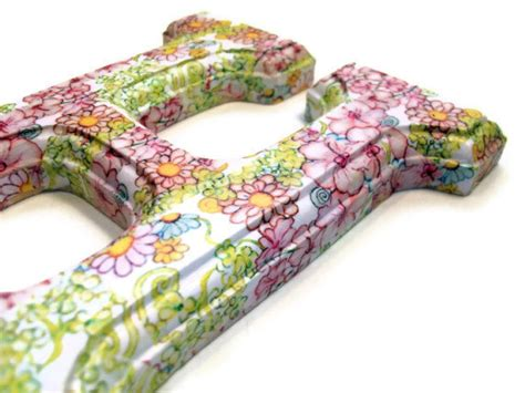Decoupage Wood Letters - decorated wood letters decoupage floral for any initial name