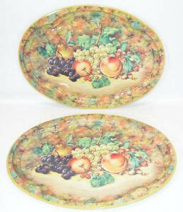 daher decorated ware fruit pattern oval tin tray england