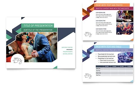 event planning powerpoint template dj powerpoint presentation template design
