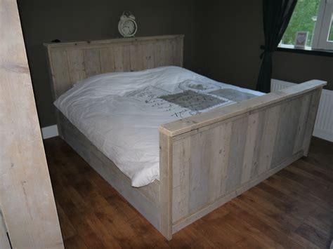 steigerhout bed 2 persoons steigerhouten bed 2 persoons model 2 de bruin steigerplanken