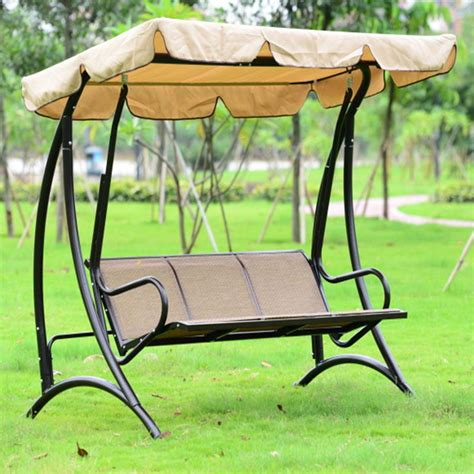 swing seat canada three seat patio swing with iron frame yz 015