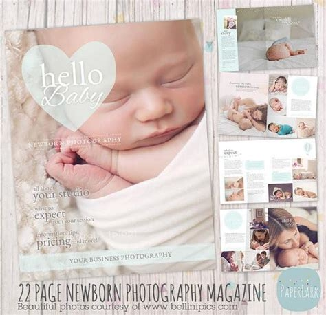 Newborn Magazine Template by 22 Page Newborn Photography Magazine Template Pg012