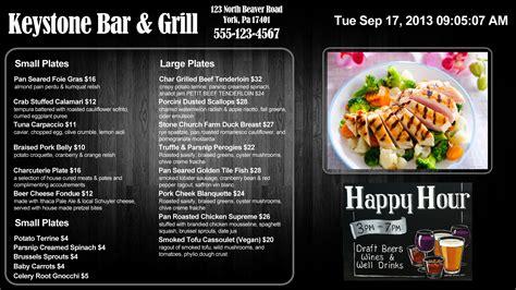 home menu board design digital signage menu board software livewire digital