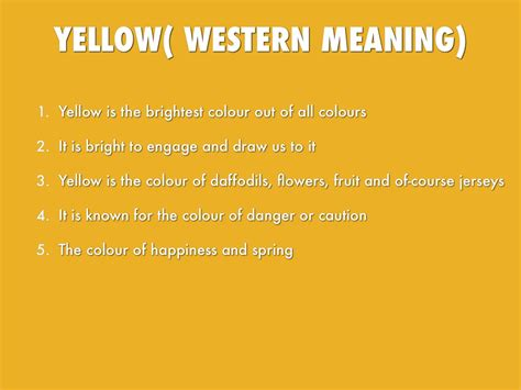 yellow colour meaning colours by 17franj