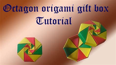 octagon gift box origami tutorial full youtube