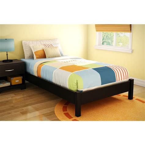 south shore twin platform bed south shore step one twin size platform bed in chocolate 3159205 the home depot